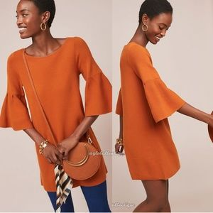 NWT ANTHROPOLOGIE Chester Bell-Sleeved Dress XS/S